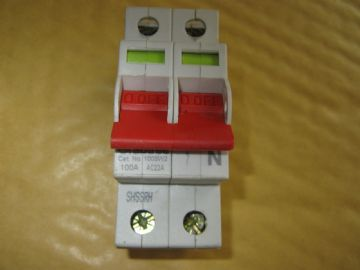 CRABTREE 100SW2 100 AMP MAIN SWITCH DISCONNECTOR AC22A. BS 60947-3
